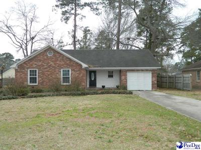 Florence SC Single Family Home For Sale: $135,000