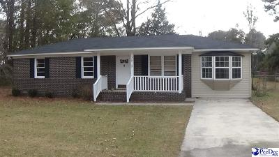 Florence SC Single Family Home New: $89,900