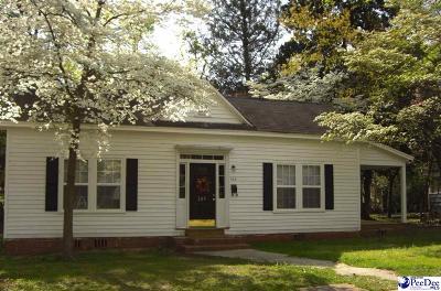Bennettsville Single Family Home For Sale: 204 S Jordan Street