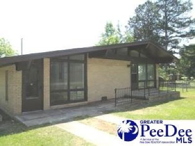 Bennettsville Single Family Home Uc/Show For Back Up: 406 Johnakin Drive