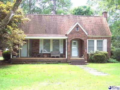 Dillon SC Single Family Home For Sale: $103,500