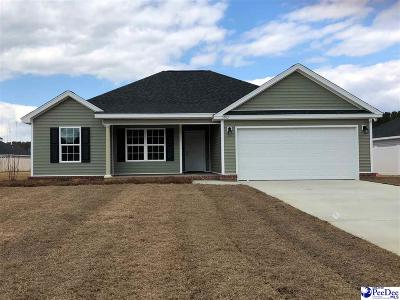 Florence SC Single Family Home Uc/Show For Back Up: $164,225