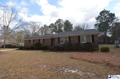 Hartsville Single Family Home Uc/Show For Back Up: 1407 Ballentine Avenue