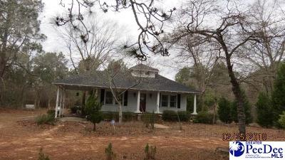 Hartsville Single Family Home For Sale: 3803 W Bobo Newsome Highway