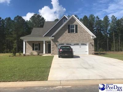 Hartsville SC Single Family Home Uc/Show For Back Up: $305,000
