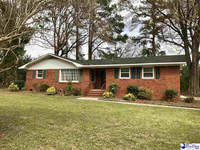 Florence SC Single Family Home Uc/Show For Back Up: $99,900