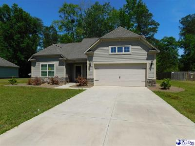 Florence SC Single Family Home Uc/Show For Back Up: $189,900