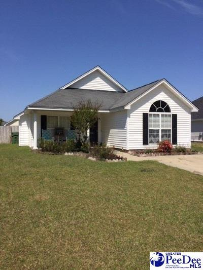 Florence SC Single Family Home Uc/Show For Back Up: $120,000