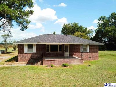 Timmonsville Single Family Home For Sale: 437 S Sansbury Rd