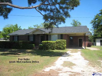 Florence Single Family Home Uc/Show For Back Up: 3026 McCracken Drive
