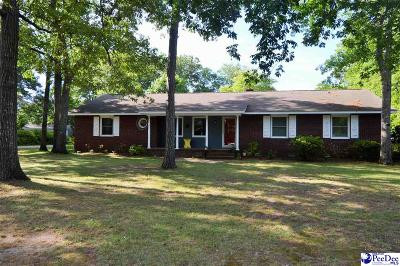 Hartsville SC Single Family Home For Sale: $179,500