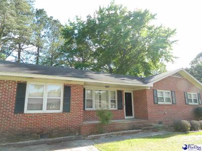 Florence SC Single Family Home For Sale: $90,500