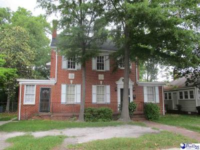 Florence Single Family Home For Sale: 609 W Evans St.