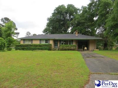 Florence SC Single Family Home For Sale: $54,800