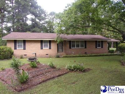 Hartsville Single Family Home New: 1925 Blanding Dr