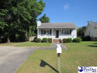 Florence SC Single Family Home For Sale: $104,000