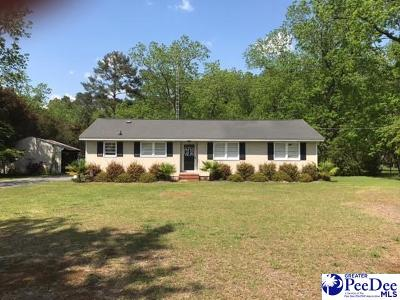 Timmonsville Single Family Home Uc/Show For Back Up: 1928 Holly Bush Rd