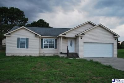 Timmonsville Single Family Home Uc/Show For Back Up: 749 S Hill Rd