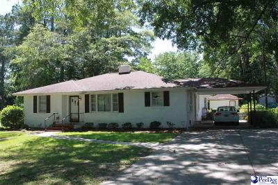 Florence SC Single Family Home Uc/Show For Back Up: $142,000