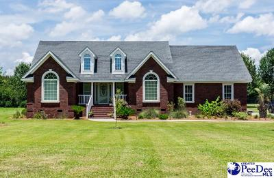Timmonsville Single Family Home For Sale: 2663 S Cartersville