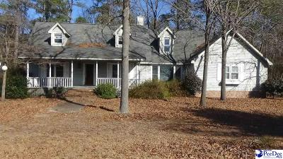 Darlington County Single Family Home For Sale: 2833 Everlasting Branch Rd.