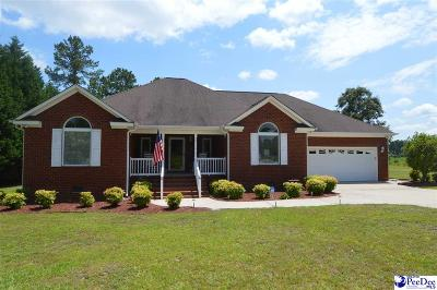 Hartsville SC Single Family Home Uc/Show For Back Up: $210,000