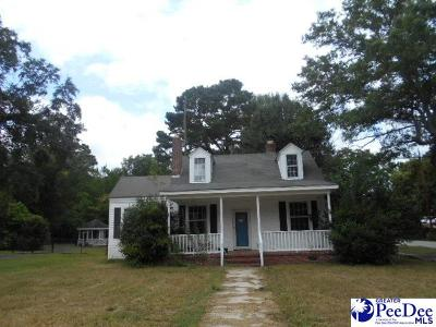 Timmonsville Single Family Home For Sale: 301 W Byrd