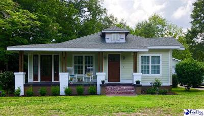 Hartsville SC Single Family Home Uc/Show For Back Up: $219,000