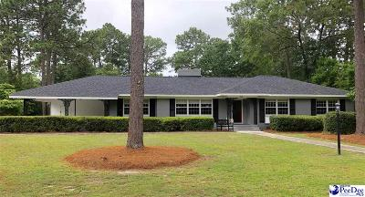 Hartsville SC Single Family Home Uc/Show For Back Up: $199,000