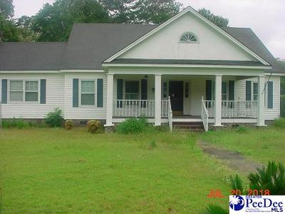 Mullins Single Family Home For Sale: 208 Carolina Ave./Camellia St.