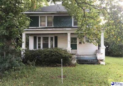 Bennettsville Single Family Home For Sale: 107 Townsend Street
