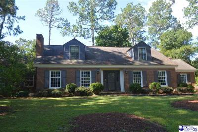 Hartsville SC Single Family Home For Sale: $299,900