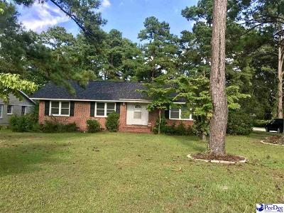 Florence Single Family Home For Sale: 1032 Cheraw Drive