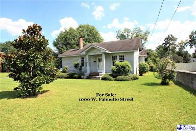 Florence Single Family Home For Sale: 1000 W Palmetto Street