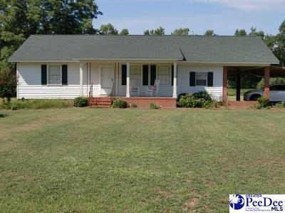 Timmonsville Single Family Home Uc/Show For Back Up: 1553 Copeland Road