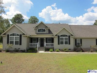 Hartsville SC Single Family Home Uc/Show For Back Up: $227,000