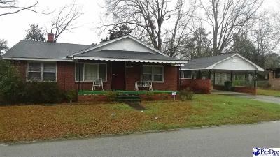 Hartsville SC Single Family Home For Sale: $39,900