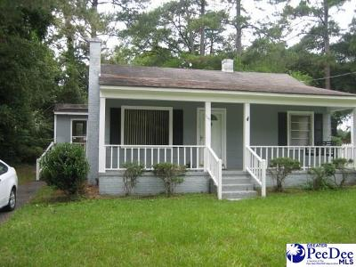 Florence SC Single Family Home Uc/Show For Back Up: $65,000