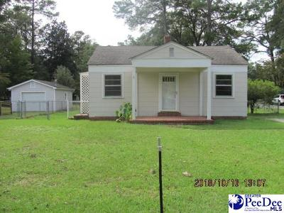 Florence SC Single Family Home For Sale: $89,900