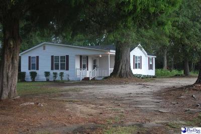 Timmonsville Single Family Home For Sale: 1740 Quietude Rd