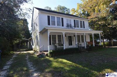 Hartsville SC Single Family Home For Sale: $169,000