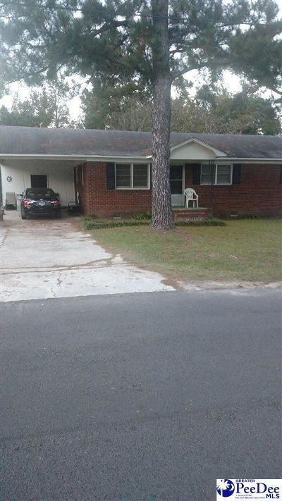 Florence SC Single Family Home For Sale: $55,000