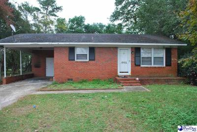 Florence SC Single Family Home New: $75,000