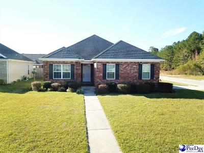 Florence SC Single Family Home Uc/Show For Back Up: $173,000