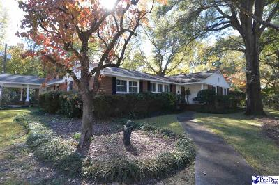 Hartsville SC Single Family Home Uc/Show For Back Up: $215,000