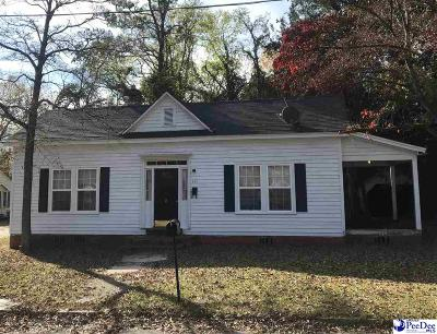 Bennettsville SC Single Family Home For Sale: $56,000