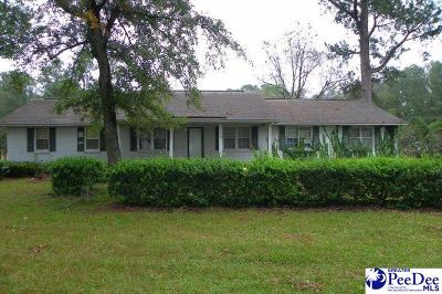 Timmonsville Single Family Home For Sale: 3352 S Hill Rd