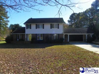 Bennettsville, Blenheim, Cilo, Clio, Mccoll, Tatum, Wallace Single Family Home For Sale: 601 Williams Dr