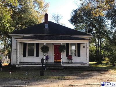 Bennettsville SC Single Family Home For Sale: $49,500