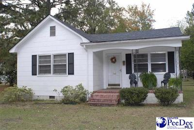 Bennettsville SC Single Family Home For Sale: $44,000